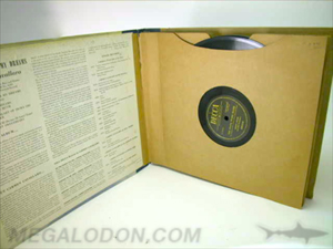 Vinyl record set hardbound book swinging sleeve
