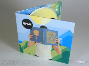 recycled digipak uncoated matte paper stock packaging
