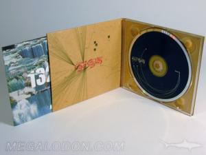 digipak cd dvd recycled paper fiberboard tray packaging