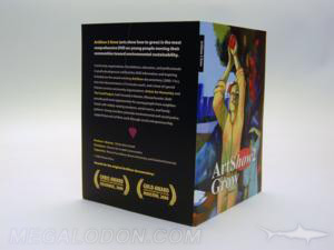 custom dvd jacket recycled paper soy inks booklet in literature pocket flap
