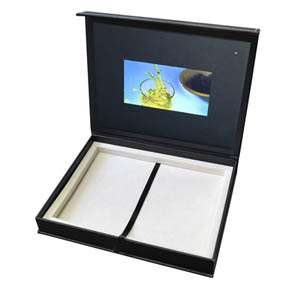leather gift box packaging video screen LCD monitor