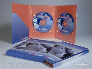 digipak dvd set 6pp tall 2 clear trays slipcase diagonal pocket