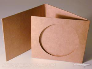 custom cd jacket fiberboard die cut window