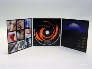 custom cd jacket tri fold foam hub packaging