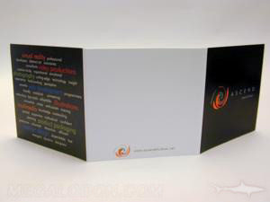 cd jacket 6pp tri fold packaging foam hub