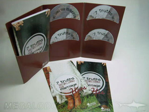 custom jacket cd dvd set tall 6pp folder with curved pockets booklets
