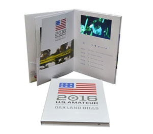 hardcover video book screen built in panel lcd monitor usb upload