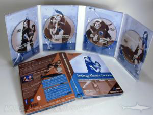 metallic ink copper multidisc set printed packaging 4 dvd