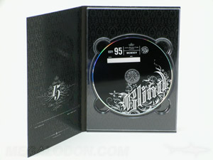 spot uv printing matte lamination dvd packaging