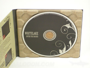 paper tray digipak cd recycled paper cork hub disc packaging