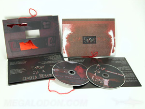 special printing foil embossed die cut window dvd set packaging
