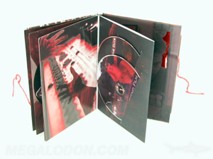 hardbound books dvd double disc set swinging sleeve  custom