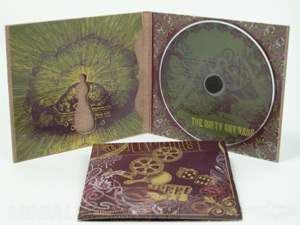 custom cd jacket packaging die cut fiberboard