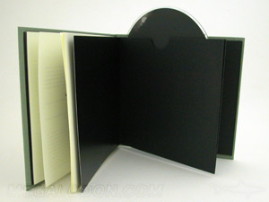 cd dvd book swinging sleeve linen wrap
