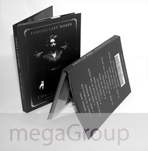 hardboun dvd book tray inner pages hard cover