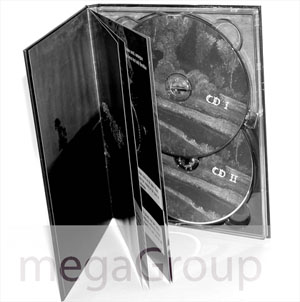 double disc tray dvd book