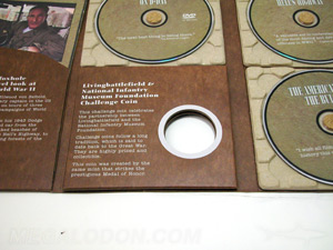 digipak dvd paper tray foam tray die cut hole multidisc packaging set