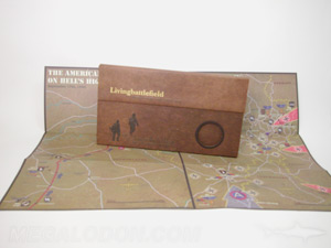 fiberboard packaging cd dvd set portfolio custom jacket vintage map