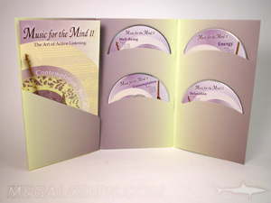 custom cd jacket 4 disc set curved pocket 9 inch height booklet