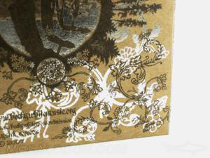 special printed effects silver foil fiberboard paper packaging
