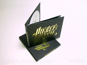 special printing foil stamping cd dvd disc packaging