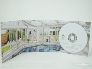 custom cd jacket white foam hub 6pp packaging full color 4C/4C