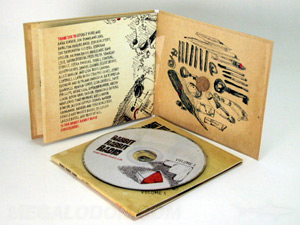 custom cd jacket packaging cork hub inner wrap LP style