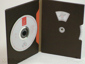dvd jacket die cut windows spinner fiberboard paper