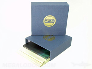 linen box set 5 jackets uncoated paper gold foil stamping on blue fabric