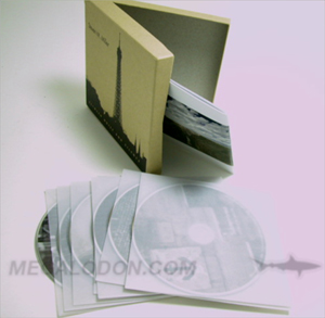 fiberboard box kraft paper multidisc set cd dvd packaging