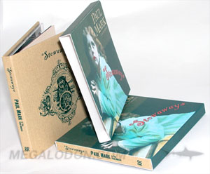 linen fabric book cd packaging vintage slipcase