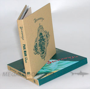 linen fabric cd book printed 1C silkscreen full color slipcase