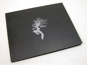 wide cd jacket custom packaging silver foil stamping black matte paper