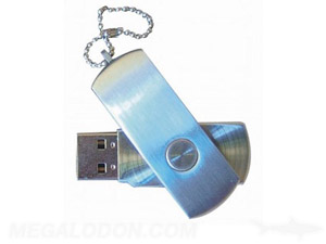 brushed metal blue usb thumb drive manufacturing