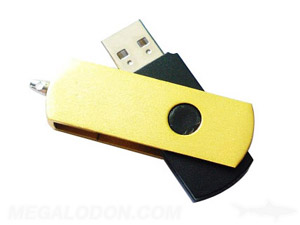 usb media metal yellow or plastic models
