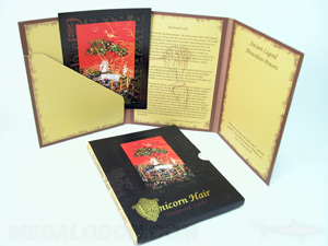 custom tall folder booklet photo art cards slipcase gold foil spot gloss