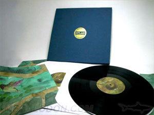 deluxe box set vinyl LP record 12 inch linen wrap fabric multi record set