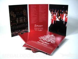 trifold dvd jacket pinch pocket church choir singing