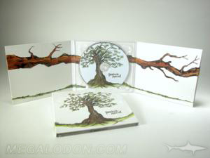 matte uncoated paper digipak full color printing inside reverse paper