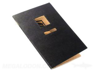 custom fiberboard disc jacket die cuts business card slot literature pocket booklet
