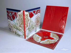 spot gloss printing matte lamination cd disc packaging