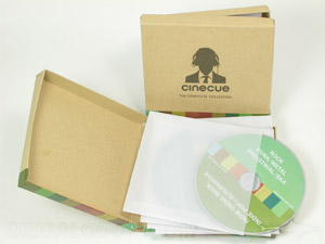 box sets cd dvd 5 inch chipboard rigid hinged