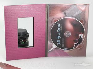 dvd digipak die cut window showing booklet