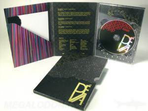 dvd digipak set gold foil slipcase 6pp tall tray diagonal pocket stationary