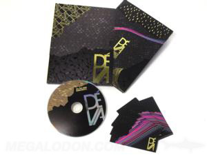 foil stamping dvd digipak set gold foil disc slipcase art cards