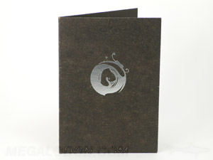 black fiberboard jacket dvd cd tall silver foiling