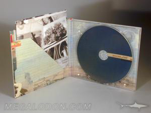 matte uncoated digipak cd diagonal pocket vintage retro