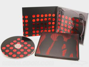 foil stamping cd dvd digipak packaging red foiling