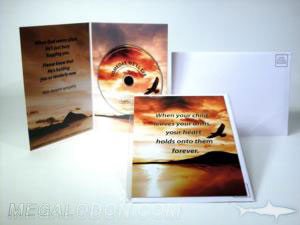 custom cd jacket foam hub envelope greeting card