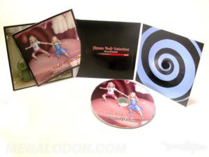 custom jacket cd 6pp center pocket booklet curved foam hub disc packaging
